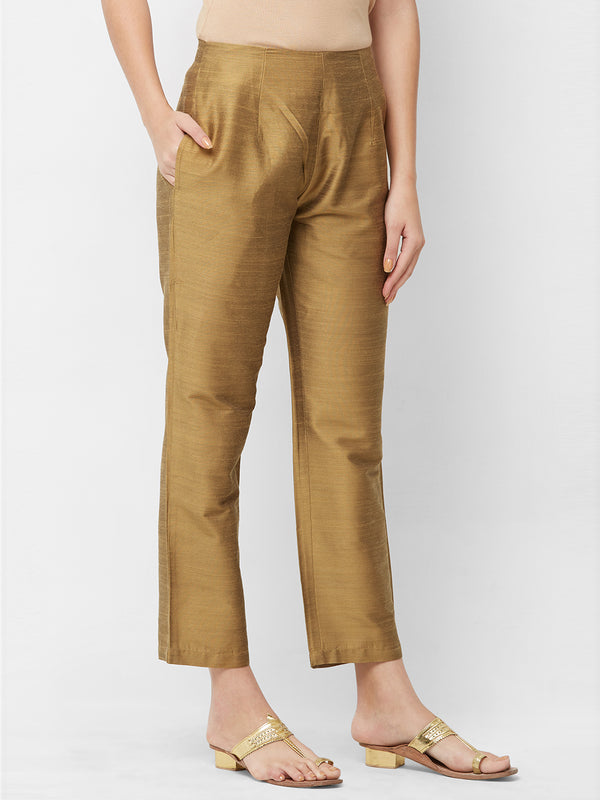 Dark Beige Parallel Pants