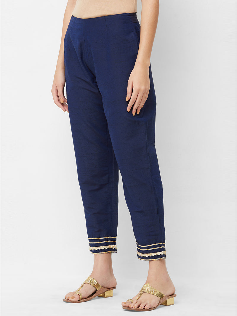 Blue Parallel Pants