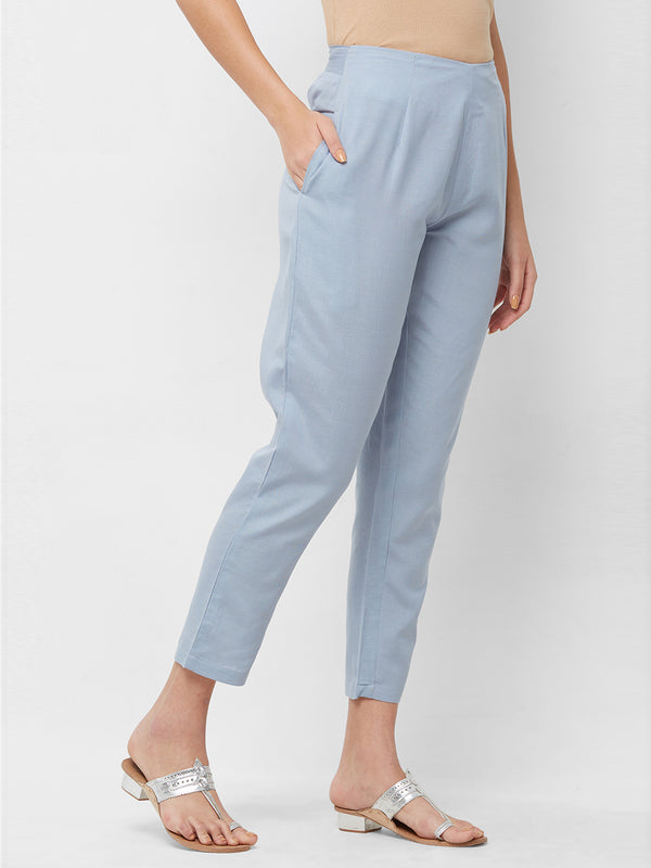 Pastel Blue Narrow Pants