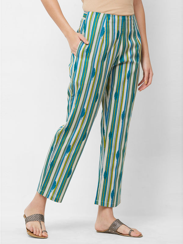 Multi Colour Parallel Pants