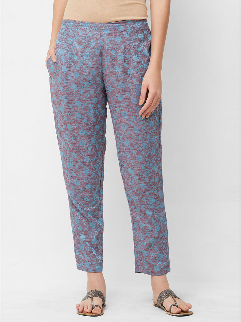 Floral Printed Narrow Pants