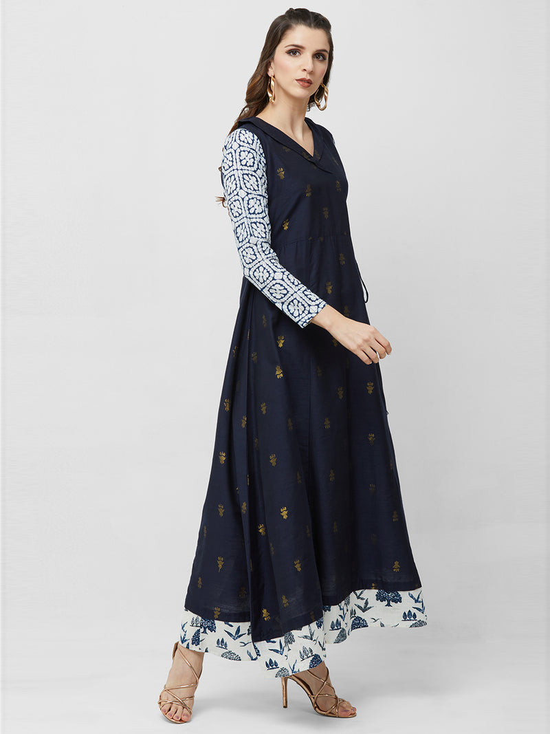 Navy Blue Maxi Gown