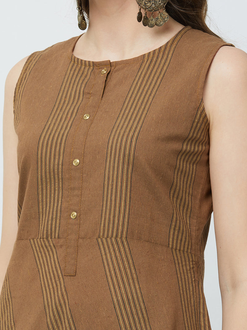 Brown Stripes Kurta