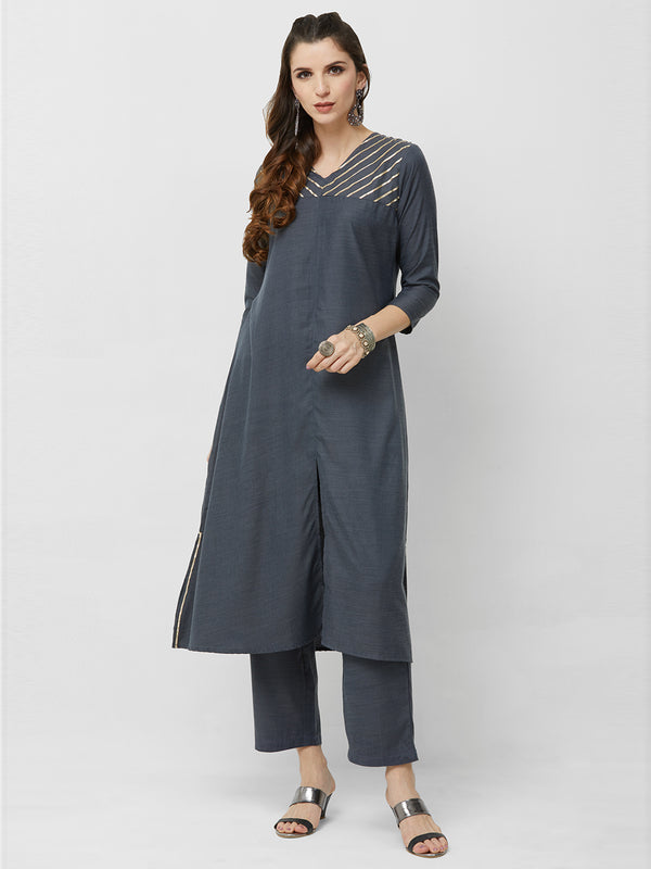 Dark Grey Kurta