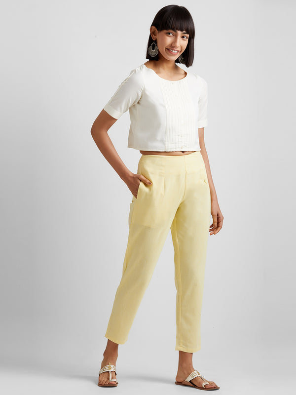Light Yellow Narrow Pants