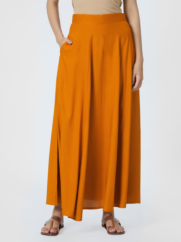 Rust Long Skirt
