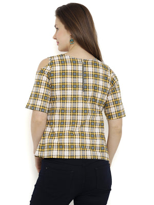 Breya Yellow Print Top