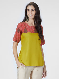 Green Round Neck Top