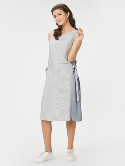 Princess Paneled A-Line Striped Dress