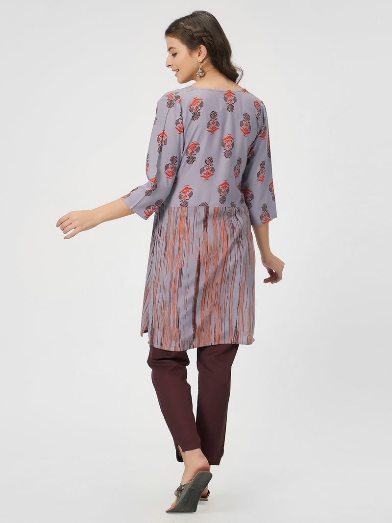 Purple Printed Tunic