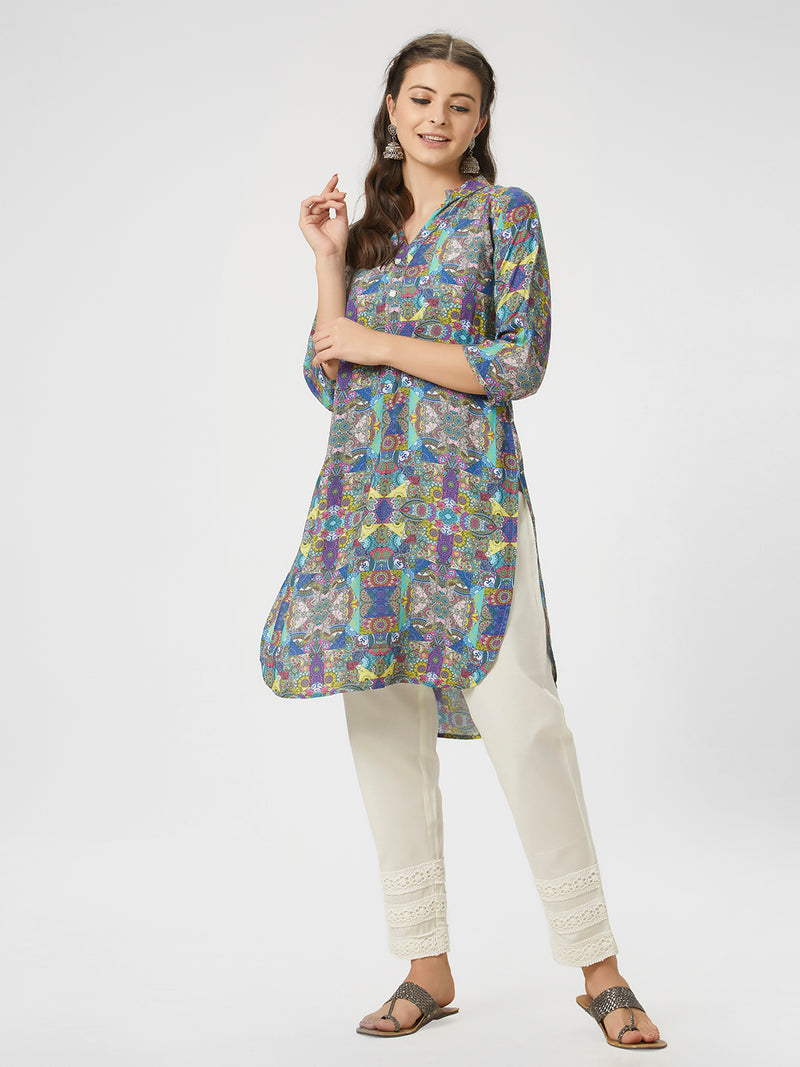 Floral Printed Straight Tunic