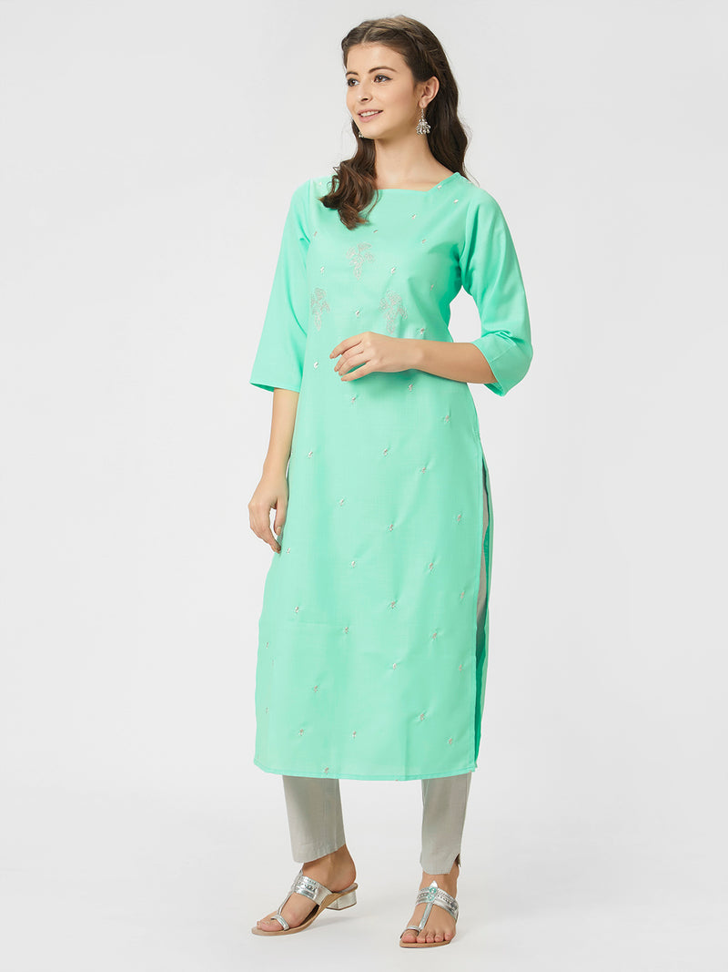 Sea Green Kurta