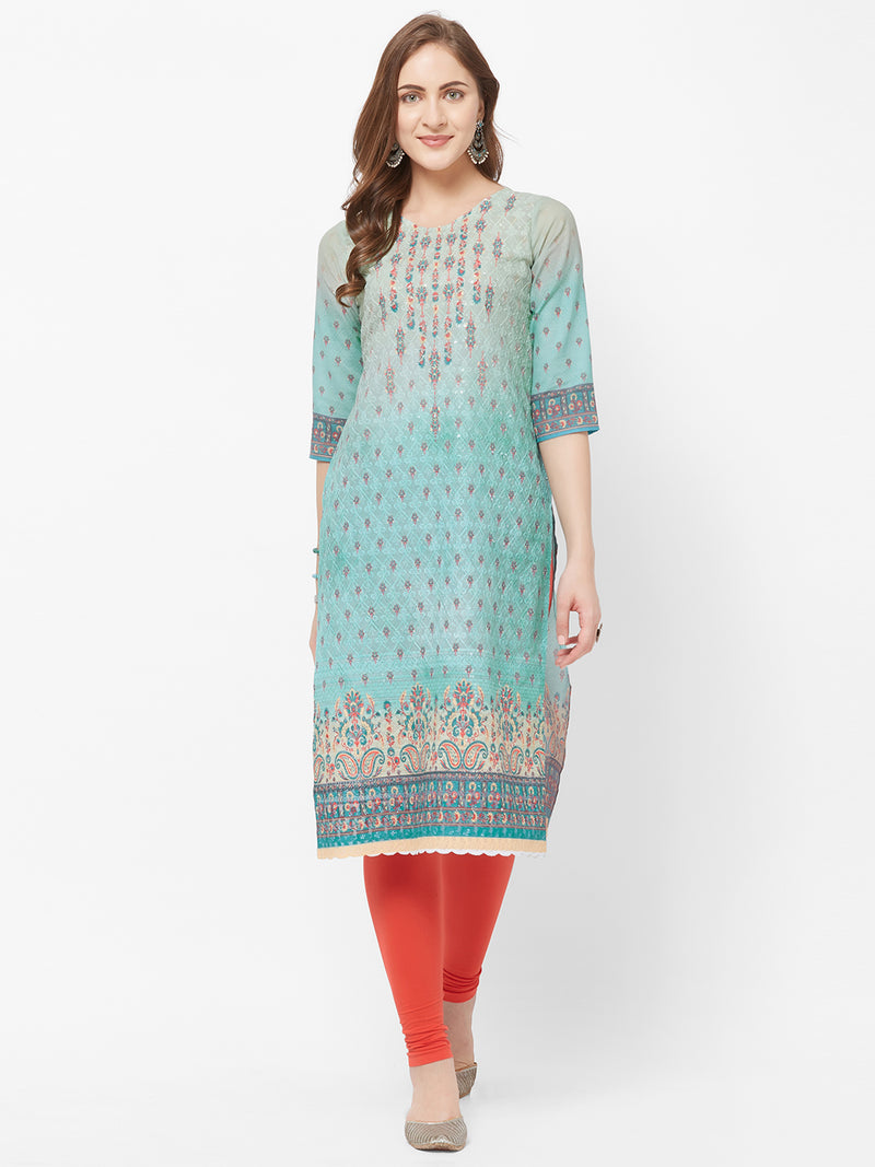 Blue Printed Kurta