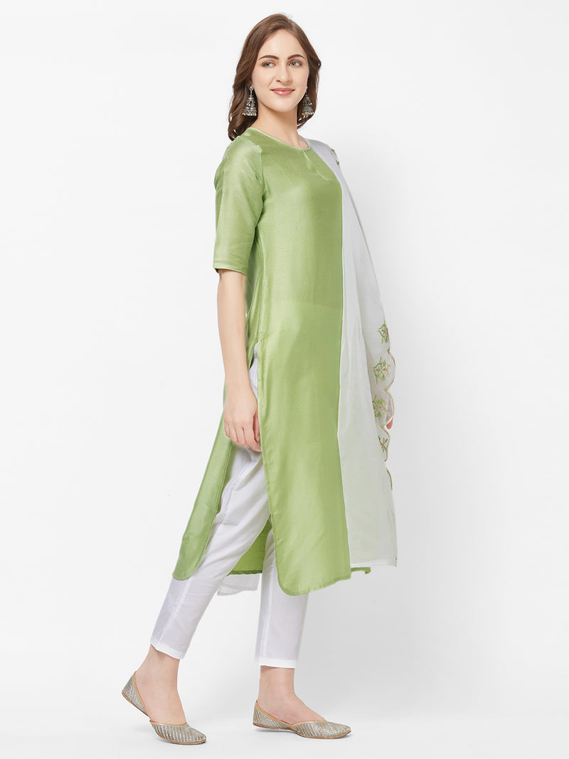 Green Kurta Dupatta Set