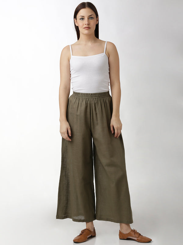Palazzo Solid Grey Loose Fit Pants