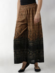 Breya Black & Beige Ombre Printed Loose Fit Flared Hem Palazzo