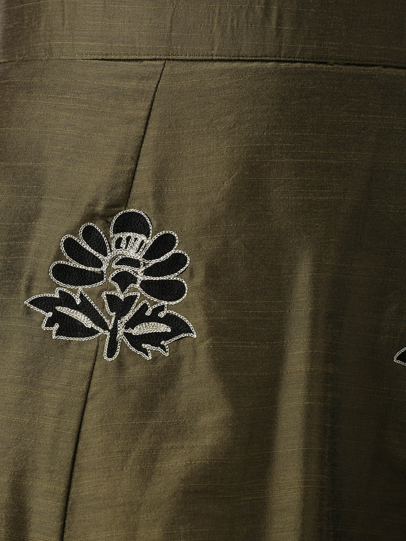 Long Embroidered Skirt