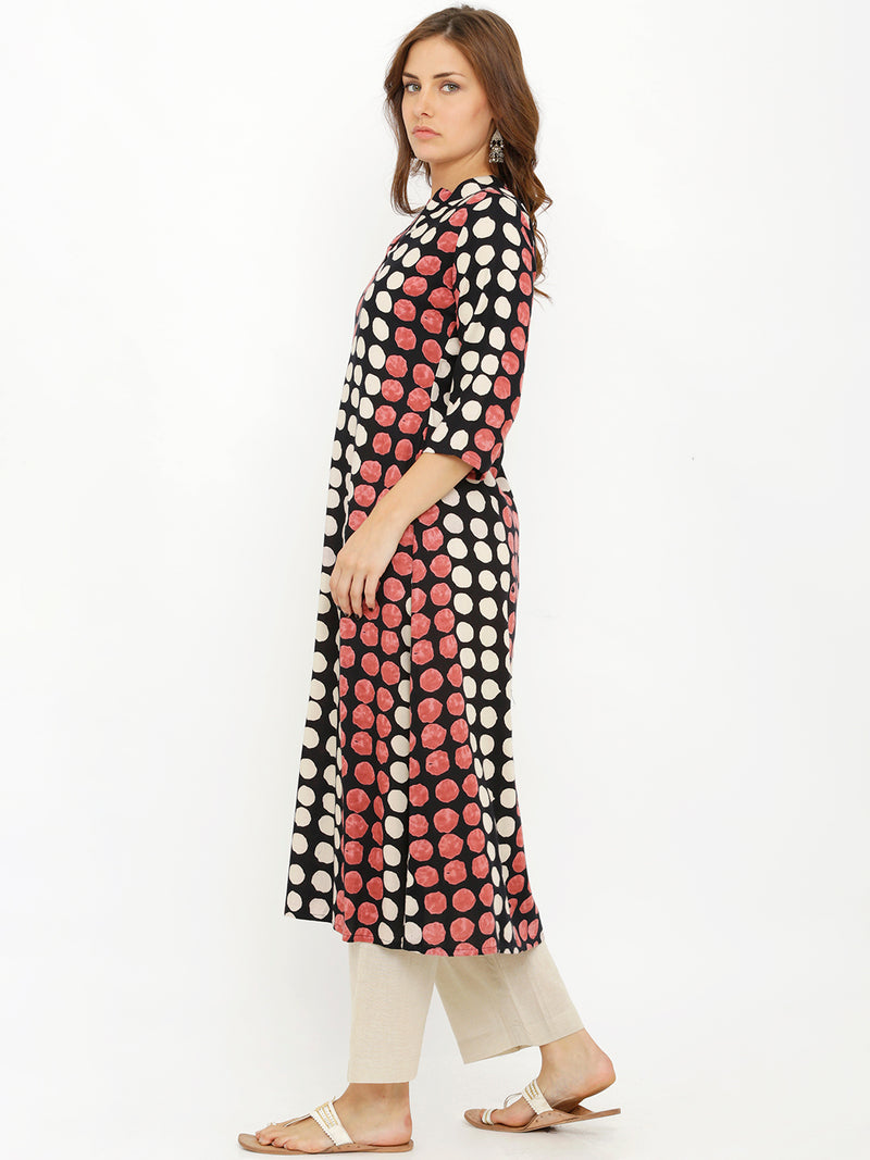 Semiformal Basic Geometric Printed Kurta