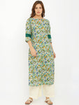Breya Printed Key Hole Neck Straight Kurta