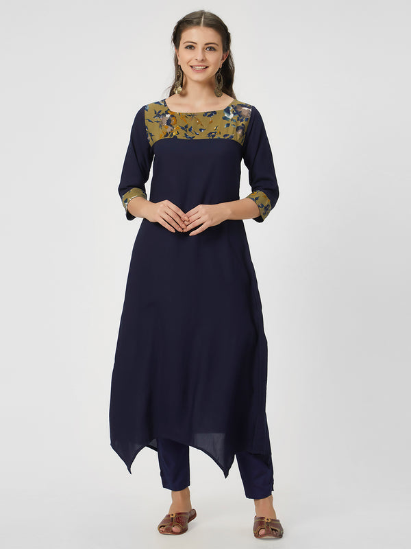 Navy Blue Kurta