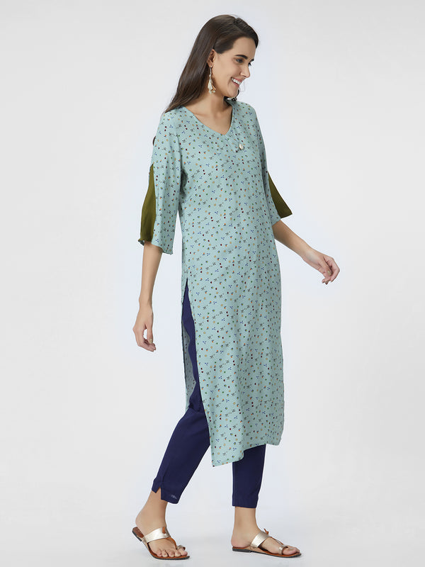 Sea Green Straight Kurta