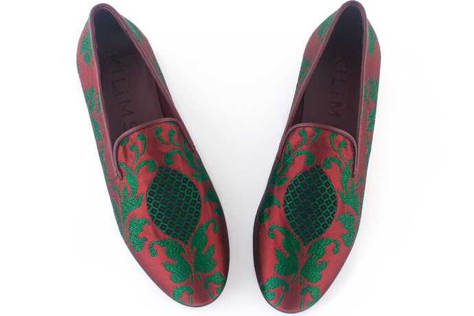 women's brocade loafers