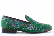 Load image into Gallery viewer, Women's Green Brocade Valenciana Slippers