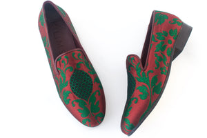 women's print loafers