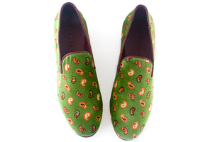 Men's Paisley Velvet Tapestry Slippers