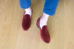 Men's Velvet Tapestry Slippers