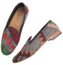 Load image into Gallery viewer, Men's Kilim Slippers size 46 (US size 13)