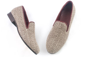 Women's Rhombus Tapestry Slippers