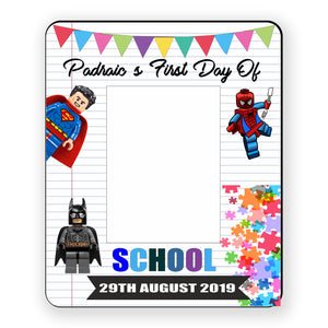 First Day At Playschool Frame, Personalised Gift