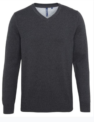Men's cotton blend v-neck sweater