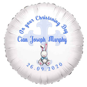 Boy Christening Balloon, Personalised Gift