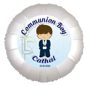 Communion Boy Balloon, Personalised Gift