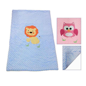 Dimple Blanket with Large Motif, Personalised Gift