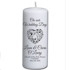 Personalised Wedding Candles