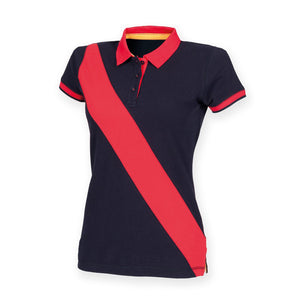 Womens Diagonal Stripe Polo