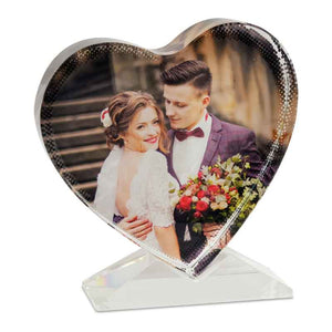 Heart Shaped Crystal Personalised Gift