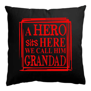 Grandad Sits Here Cushion, Personalised Gift