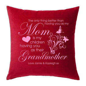 Grandmother Cushion, Personalised Gift