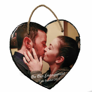 Hanging Heart Photo slate