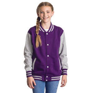 AWDis Kids Varsity Jacket - Personalise It