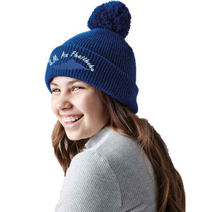 Junior reflective bobble beanie - Personalise It