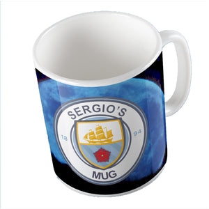 Manchester City Themed Mug - Personalise It