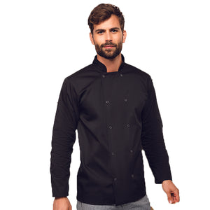 Studded Front Long Sleeve Chef Jacket