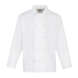 Studded Front Long Sleeve Chef Jacket, Personalise Gift