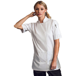 Women's Short Sleeve Chef Jacket