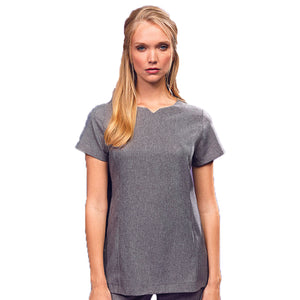 Viola Linen Look cut neck beauty tunic